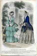gravure de Mode  Magasin des Demoiselles juin 1851 par Anaïs Toudouze