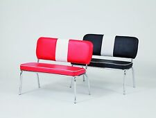 American Diner Furniture 50's Style Retro Bench Red