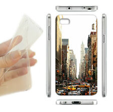 COVER MORBIDA ULTRA SLIM GEL CITTA' NEW YORK TAXI PER CELLULARE iPHONE 6 4.7""