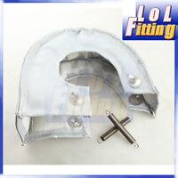 T25 T28 GT28 GT30 GT35 T37 T3 Turbo Blanket Wrap Heat Shield Silver