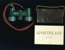 Okaya Optic Manon 3x30-10 field sport binoculars adjustable green case box Japan