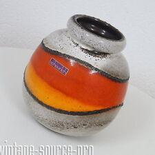 alte Scheurich Lava Vase Tischvase Blumenvase Vintage Retro 60er J. West Germany