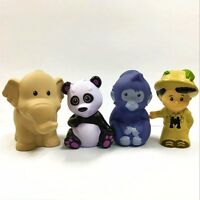 4pcs Fisher Price Little People Treehouse Panda Elephant Animal Figure Boy Toy