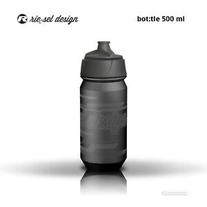 Riesel Design Bicycle Water Bottle BPA Free 550ml : LANDSCAPE STEALTH