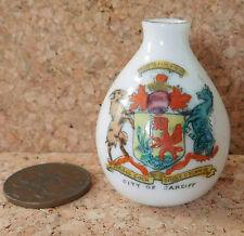 Clifton crested china vase CITY OF CARDIFF Welsh dragon Y DDRAIG GOCH ornament
