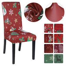 Christmas Dining Seat Cover Chair Covers Stretch Wedding Banquet Removable !