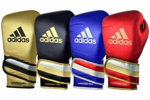 Adidas AdiSpeed Metallic Leather Boxing Gloves Fight Sparring