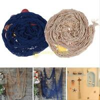 Decorative Nautical Fishing Net Seaside Wall Beach Party Sea Shell Hoom Decor