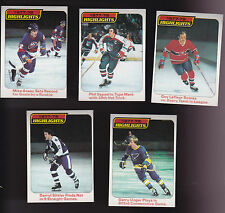 1978 Topps LOT of 5 NHL HIGHLIGHTS Cards NM/MT BOSY ESPOSITO LaFLEUR SITTLER