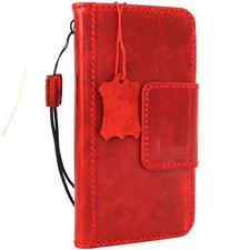 Genuine leather case for LG G6 book cards wallet magnet Closure cover red slim