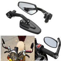 2x 7/8'' 22mm Motorcycle Rear View Side Mirror Handle Bar End Black