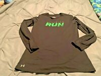 Under Armour Boy's Black & Green LS Shirt. Size Small  FREE SHIPPING!!!