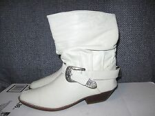 BIARRITZ ladies leather ankle slouch cowboy boots buckle size 6 B