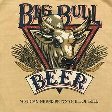 Crazy Shirts Big Bull Beer Large USA T shirt Beer Dyed Amber