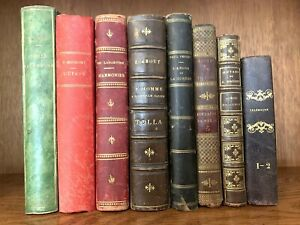 OLD BOOKS COLLECTION XIXth Century - Adventures of Telemachus, Love and War Etc