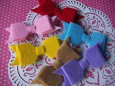 Wool Felt Hair Bows Ribbons For Hairband Hair Bows Gifts Presents DIY 6pcs NEW