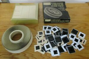 Sears Circular Slide Tray for Projector with Box and 65 Family Slides 1970s