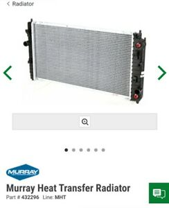 Murray Radiator 432296 MHT Oldsmobile Chevrolet Malibu Pontiac Grand am alero