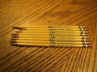 Vintage Mid-Atlantic Corp. Federal Credit Union Advertising Thin Pencils   8 Pcs