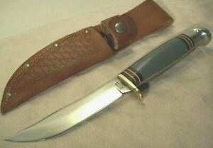 1950's~WESTERN~BOULDER, COLO.~L66~UNUSED~GRAY HANDLE HUNTING & FIGHTING KNIFE~
