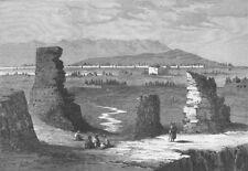 CHINA. The Yarkund Mission. The city of Kashgar, antique print, 1874