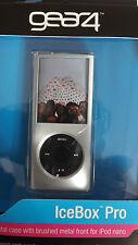 Elegante Gear 4 Plata Cristal duro piel caso Heladera Pro para iPod Nano + Cordón