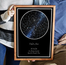 Personalised Star Map Sky Print- Valentines Gift/Wedding/Engagement/Mothers Day