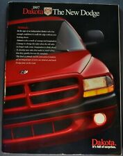 1997 Dodge Dakota Pickup Truck 32pg Brochure SLT Sport 4x4 Excellent Original 97