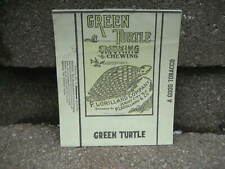 Vintage Green Turtle Smoking Tobacco Packaging Wrapper