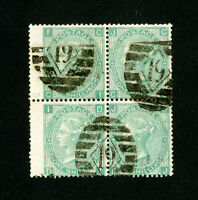 Great Britain Stamps # 48 F-VF Neat Cancel Block Scarce Scott Value $1,350.00