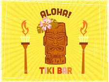 Tiki Bar, signo de Aluminio de Metal Retro Vintage Pub Bar cobertizo Cueva de hombre