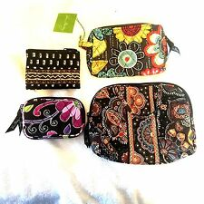 4- Vera Bradley assorted cotton cosmetic and coin purses