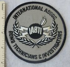 INTERNATIONAL ASSOCIATION of BOMB TECHNICIANS & INVESTIGATORS PATCH Vintage