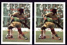SELLOS DEPORTES FUTBOL BHUTAN 1982 HB 82/83 ESPAÑA 82 FINALISTAS 2 HOJAS BLOQUE