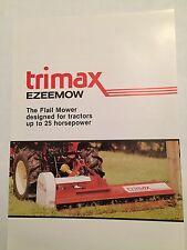 TRIMAX Ezeemow Flail Mower for Compact Tractors 1980s Original Vintage Brochure