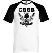 Cbgb el Hogar Del Punk Omfug Camiseta Hombre Underground Nyc Club Calavera Alas