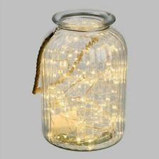 Vase bougeoir lanterne LOTTI Athéna en verre guirlande 120 micro led ht 26,5 cm