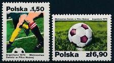 Poland 1978 MNH 2v, Sports, World Cup Soccer Football Argentina