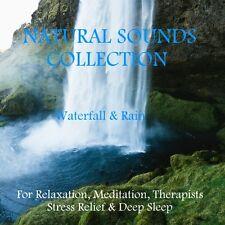 NATURAL SOUNDS CD -WATERFALL & RAIN FOR RELAXATION, MEDITATION,STRESS DEEP SLEEP