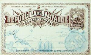 EL SALVADOR SERVICIO INTERIOR PRINTED 2c UNUSED POSTAL STATIONERY CARD