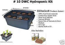 # 10 (8 Site) ~ Deep Water Culture Hydroponic GROW BOX by H2OToGro
