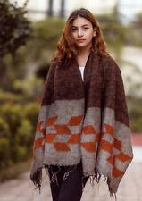 Grey Orange Himalayan 100% Pure Woolen Shawls Nepal WYS42
