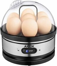 Electric Egg Cooker Boiler Poacher 7 Eggs Electric Steamer Auto-Off Hard Boiled