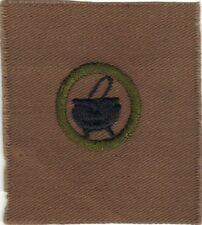 BOY SCOUT COOKING #3 SQUARE TEENS MERIT BADGE (TYPE AA) MINT OVERSIZE