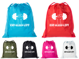 Mini Drawstring Gym Bags, Inspirational Gym bags with workout motivation quotes