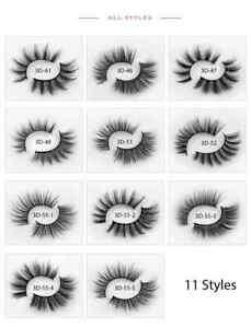 5 Pairs 3D Mink False Natural Thick Long Wispy QUALITY Eyelashes with Tweezer UK