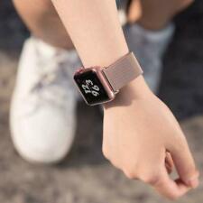 Magnetic Stainless Steel Mesh Metal Closure Loop for Apple Watch Band 5 4 3 2 1