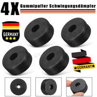 4X Gummipuffer Schwingungsdämpfer Silentblock Gummi-Metall Schwarz 38mm x
