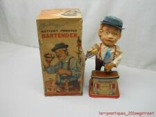 VINTAGE CHARLEY WEAVER BARTENDER BATTERY OPERATED W/ ORIGINAL  BOX (NR)