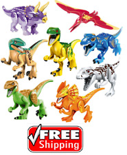 8 X Jurassic World Dinosaurs Mini Figures Building Toys Fit Lego ☀️FAST SHIP☀️